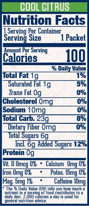 VFUELの栄養表示